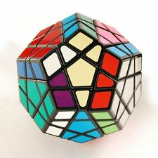 QJ Megaminx Speed Cube Puzzle Stickered Black Brain Teaser Twist Game Kids Toy
