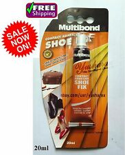 Shoe Fix Repair Multibond Contact Adhesive Glue bonding Rubber Leather Canvas