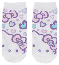 NEW SANRIO HELLO KITTY SOCKS woman size for shoe size 5 1/2 - 7 PURPLE HEARTS