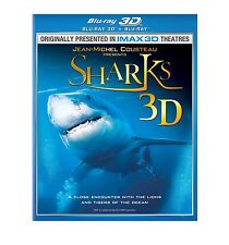 IMAX SHARKS BLU RAY 3D + BLU RAY VERSION! OCEAN, GREAT WHITE, WHALE, HAMMER