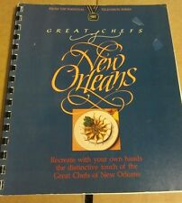 GREAT CHEFS OF NEW ORLEANS COOKBOOK CREOLE CAJUN FRENCH SOUTHERN RECIPES 1983