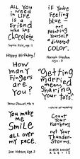 Inkadinkado Clear Stamps - Friendly Advice, Humour, Kids Quotes