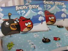 2 pc Angry Birds Micro Mink Twin Fitted & Pillowcase Set NIP