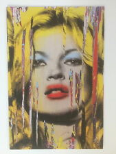 MR BRAINWASH. KATE MOSS, exhibition promotional card, 2012
