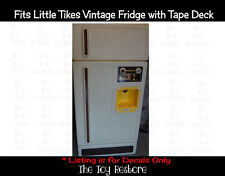 New Replacement Decals Stickers fits Little Tikes Vtg Fridge with Tape Deck OS