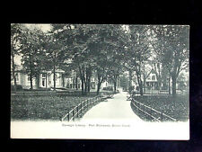 c.1905 Carnegie Library & Park Port Richmond NY post card Staten Island