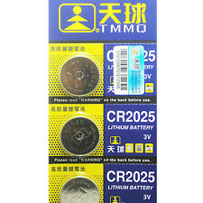5X CR2025 Batteries 3V Coin Cell Button For Toys Remote Weigher Boards Ornate