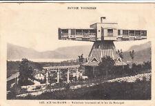 AIX-LES-BAINS 1455 solarium tournant et le lac du bourget timbrée 1937