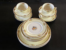 20 Piece Set ~ W.H. GRINDLEY CHINA ~ ALTON ~ (4) 5 PIECE PLACE SETTINGS ENGLAND