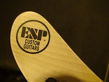 2 ESP Custom Guitars Black or White Round Neck Headstock Waterslide Decals
