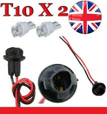 UK 2 x T10 LED BULB HOLDER Light Dash Socket Connector Motorcycle Car Twist W5W