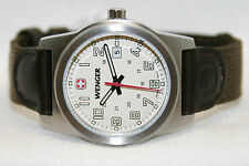 Swiss Army Wenger Small Field Classic Watch Stainless Ivory Dial Nylon 30mm