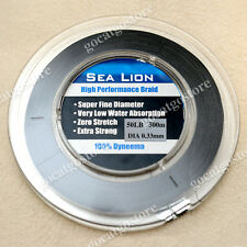 NEW Sea Lion 100% Dyneema  Spectra Braid Fishing Line 500M 50lb Black
