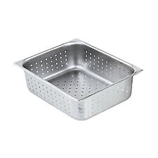 """WINCO S/S PERFORATED STEAM TABLE PAN HALF SIZE 4"""" DEEP NSF - SPHP4"""