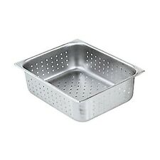 "WINCO S/S PERFORATED STEAM TABLE PAN HALF SIZE 4"" DEEP NSF - SPHP4"