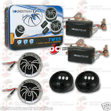 SOUNDSTREAM TWT.5 CAR AUDIO 1-INCH PEI DOME TWEETERS (PAIR)