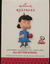 2013 HALLMARK - ALL SET FOR SCHOOL  - PEANUTS - MINT IN BOX