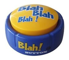 Blah! Button with 12 Funny Phrases by Talkie Toys Products BRAND NEW XTS