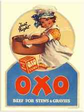 Metal Sign 117 19H Oxo For Stews And Gravies 1 1933 A3 16x12 Aluminium