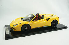 1/12 BBR FERRARI 488 SPIDER IN COLOR GIALLO MODENA YELLOW LIMITED 10 PIECES N MR