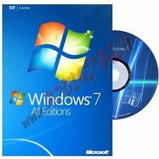 WINDOWS 7 PROFESSIONAL DVD PACK ADESIVO PRO SEVEN 64bit EN SOFTWARE ORIGINALE PC