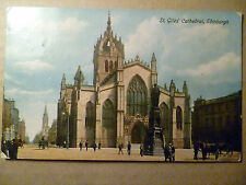 Pre 1915 Postcard St. Giles Cathedral, Edinburgh (+1/2 Penny Postage Revenue)