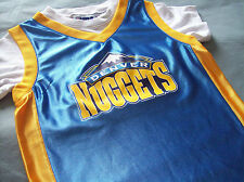 NBA DENVER NUGGETS PULLOVER JERSEY SHIRT BOYS 4/5