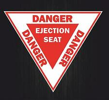 Sticker decal macbook airplane aircraft airport helicopter danger ejection seat