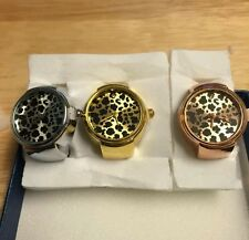 ANIMAL PRINT RING WATCHES / DIAMOND YELLOW OR ROSE OR WHITE FITS 5 TO 10 STRETCH
