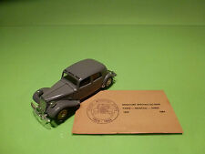 SOLIDO  CITROEN 15 SIX 1939 - TRACTION AVANT -1:43 - RARE SELTEN - GOOD COND.