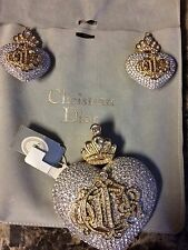 Christian Dior Couture Runway Earring s And Pin Set