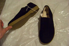 mens route 66 black fabric slip on loafers shoes size 8 1/2