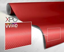 Blood Red Dry Carbon Sample 2'' x 4'' Car Wrap Roll Vinyl Air Release