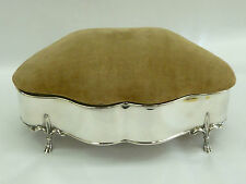 Rare Untouched Antique Chester 1913 Hallmarked Silver Jewellery Ring  Box Case