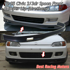 SPN Style Front Lip (Urethane) Fits 92-95 Honda Civic 3dr