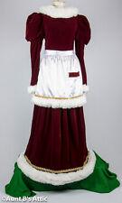 Santa's Helper Mrs. Santa Velvet Dress Apron Christmas Holiday Dress
