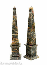 Obelisco in Marmo Salomè Marble Obelisk Classic Sculpture Home Old Design H.43cm