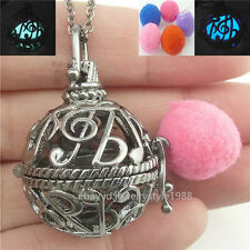 Music Note Locket Necklace Aromatherapy Perfume Essential Oil Fragrance Diffuser