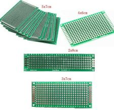 4PCS 5x7 4x6 3x7 2x8 CM Double Side Copper Prototype PCB Universal Board Plate