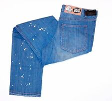 CHEAP MONDAY Denim JEANS Paint Drop DISTRESSED Tight 70's WASH 5-Pocket 33 x 34