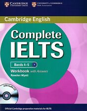 Cambridge English COMPLETE IELTS Bands 4-5 WORKBOOK with Answers +Audio CD @New@