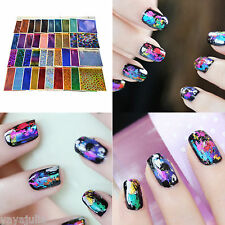 40 Colors Bags Foil Galaxy Nail Sticker Paper Shiny Decal 8x60 cm Wholesale Lot