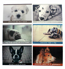Quality Picture Postcards Of 6 Different Dog Breed Designs 320 gm Card.