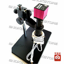 HDMI VGA VIDEO USB MICROSCOPE CAMERA SET 14MP 180X LENS MISCROSCOPIO 56LED STAND