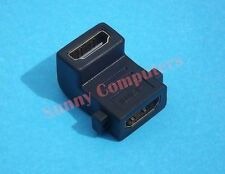 HDMI Cable Joiner Adapter Upward Facing F/F L Shape Connector v1.4 Compatible