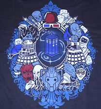 """We Were Framed"" Doctor Who Tardis Dalek Silence Women's Large Shirt Teevillain"