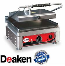 Deaken Commercial Contact Grill 36 x 27cm Flat Plates NEW Panini Sandwich Press