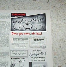 1953 vintage ad - Anchor Hocking glass Fire King ovenware Lancaster Ohio ADVERT