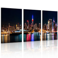 "Modern Picture ""New York Port Night"" HD Canvas Print Wall Art Paintings Unframed"