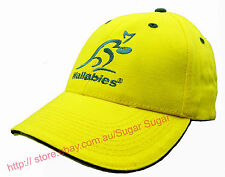 - New - Official Licensed  Green & Gold Australia Wallabies Supporter Cap